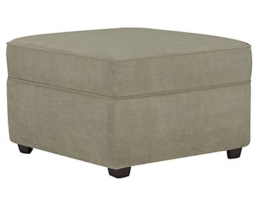 Express3 Light Green Microfiber Ottoman