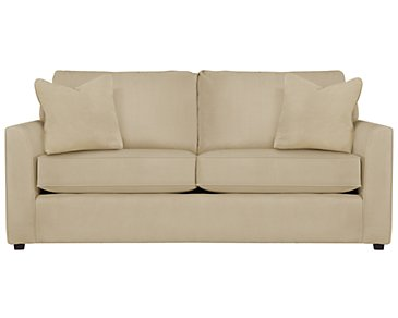 Express3 Light Beige Microfiber Sofa