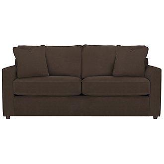 Express3 Dark Brown Microfiber Sofa