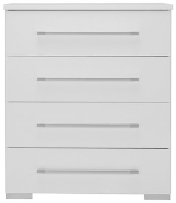 Dimora3 White Wood Platform Bedroom Package