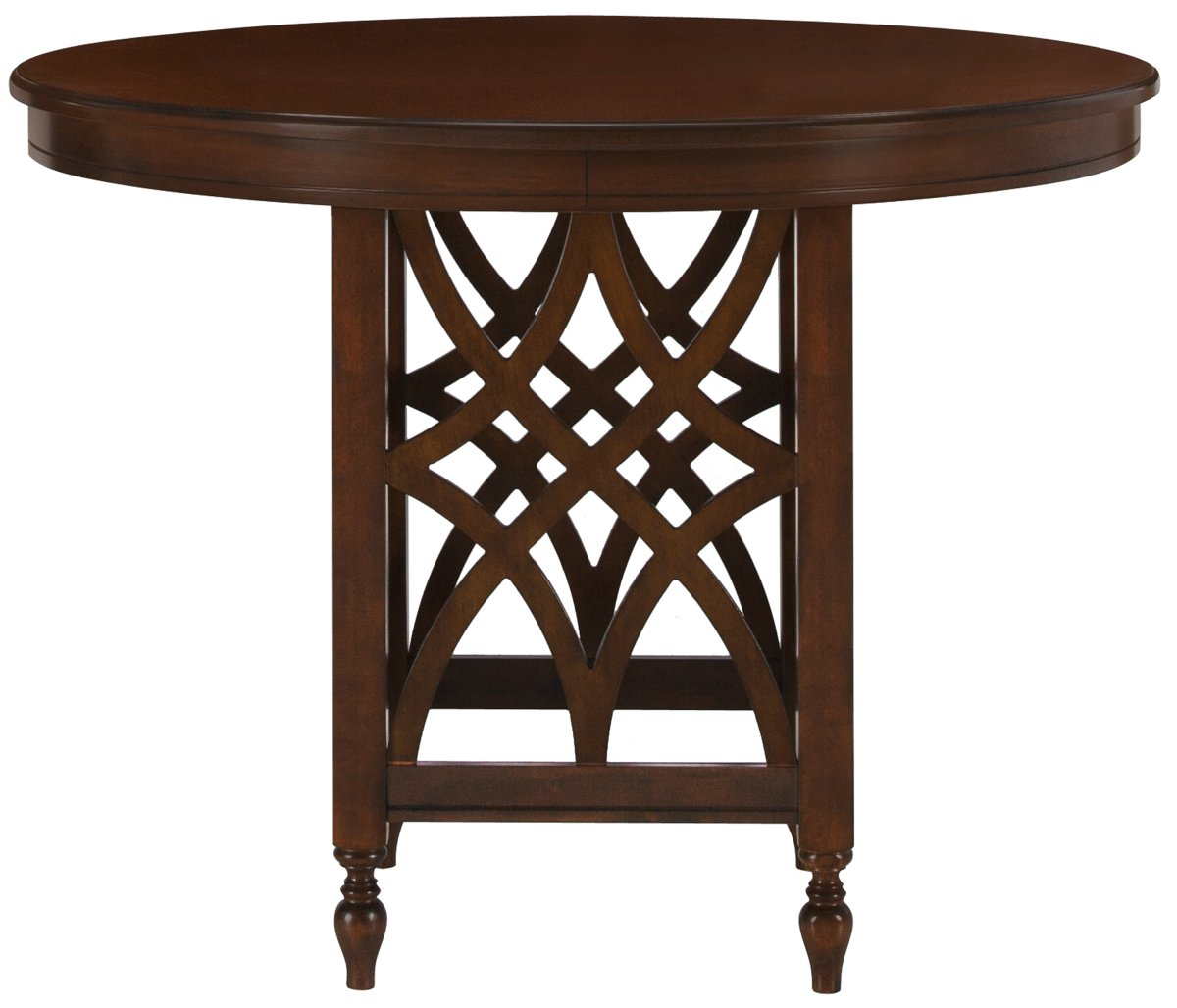 Oxford Mid Tone Wood Round High Dining Table