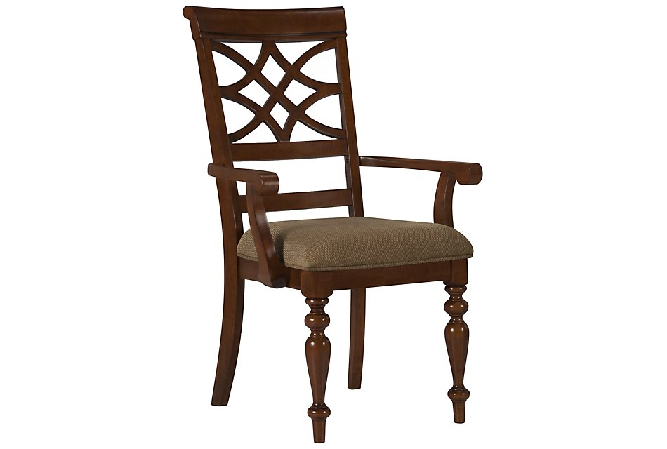 Oxford Mid Tone Wood Wood Arm Chair