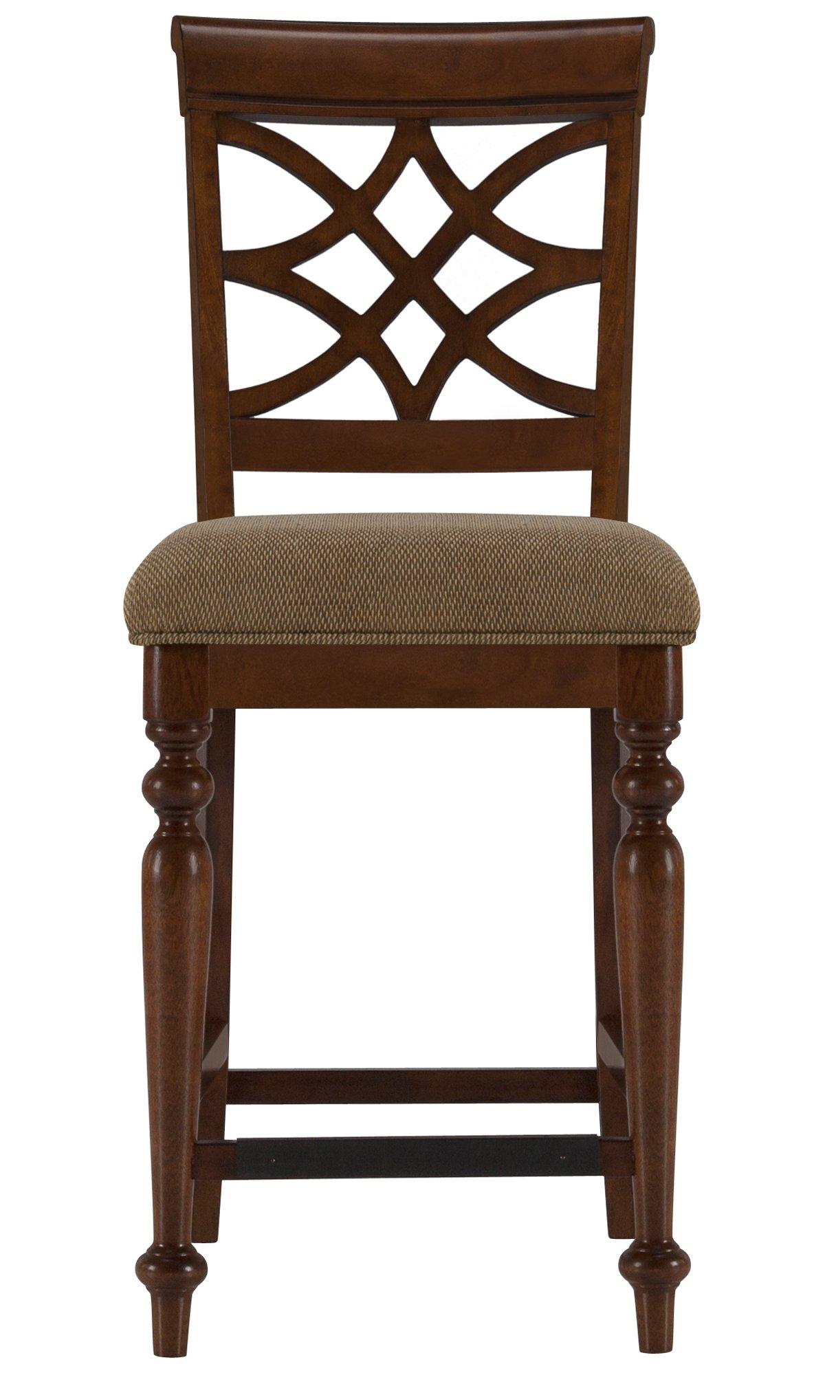 """Oxford Mid Tone Wood 24"""" Wood Barstool"""