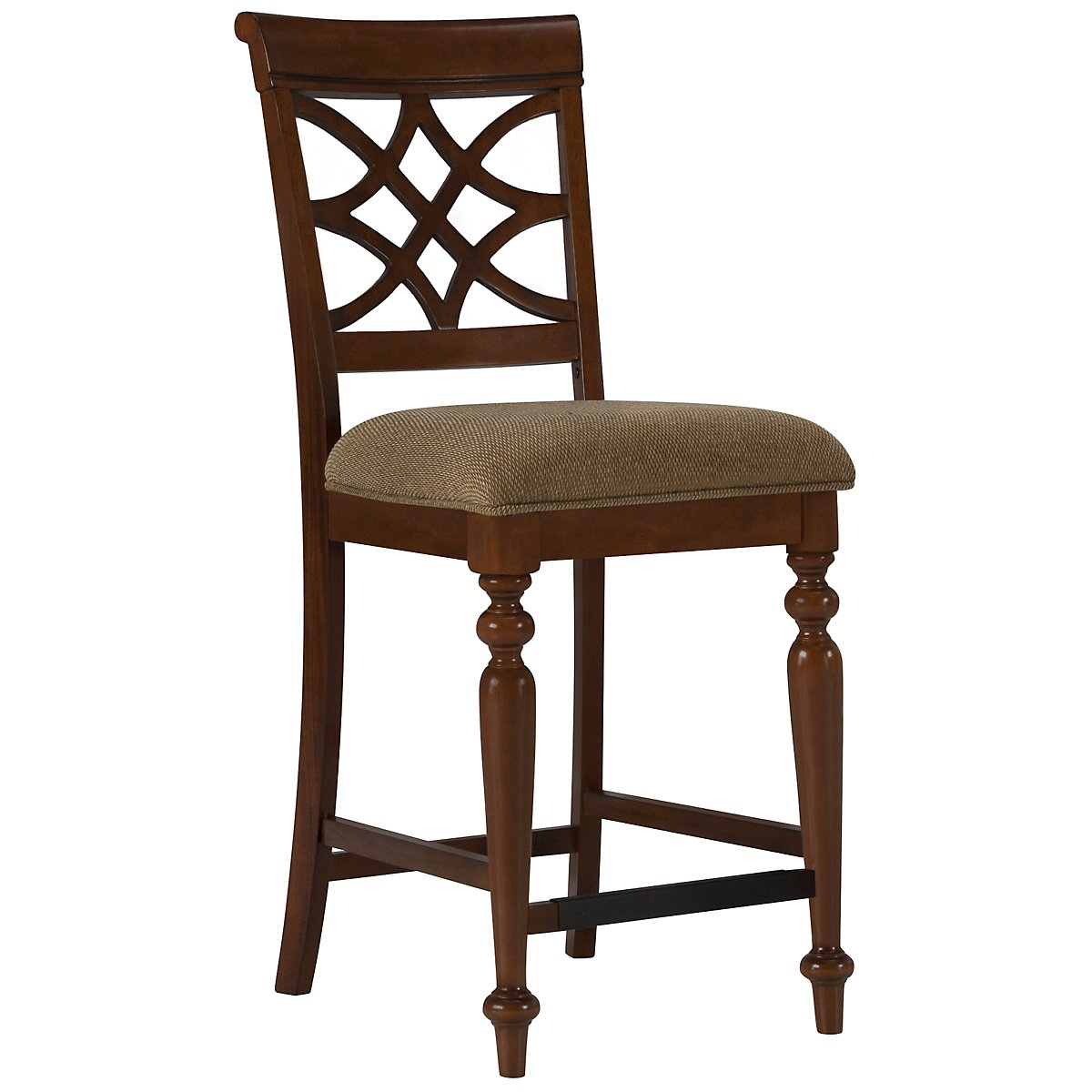 "Oxford Mid Tone 24"" Wood Barstool"