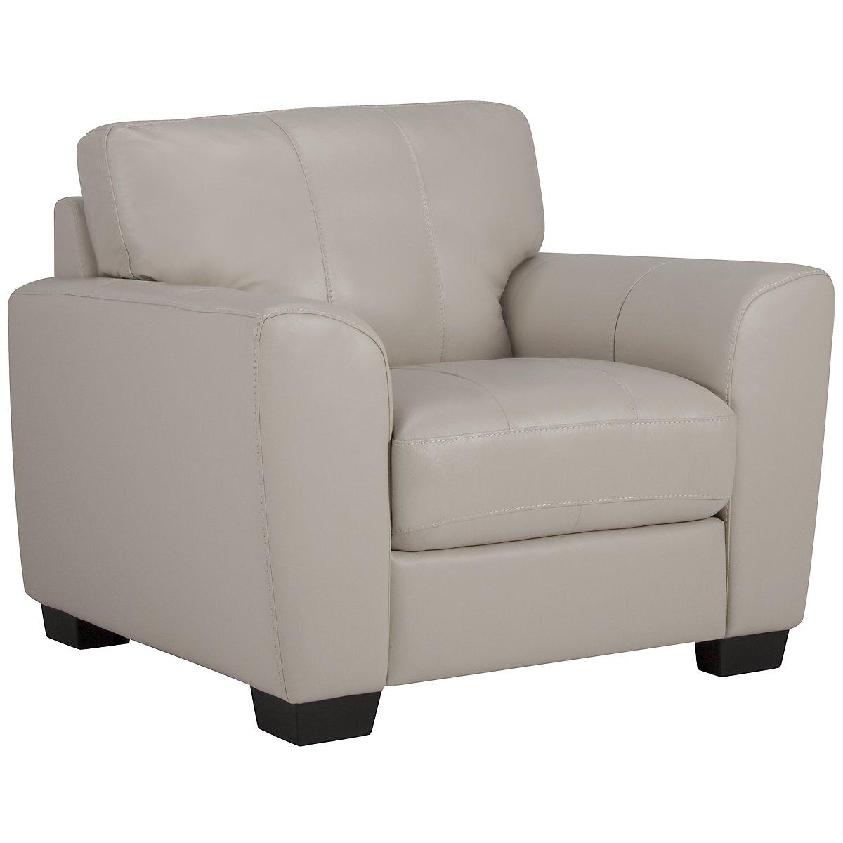 Fallon Light Gray Leather & Vinyl Chair