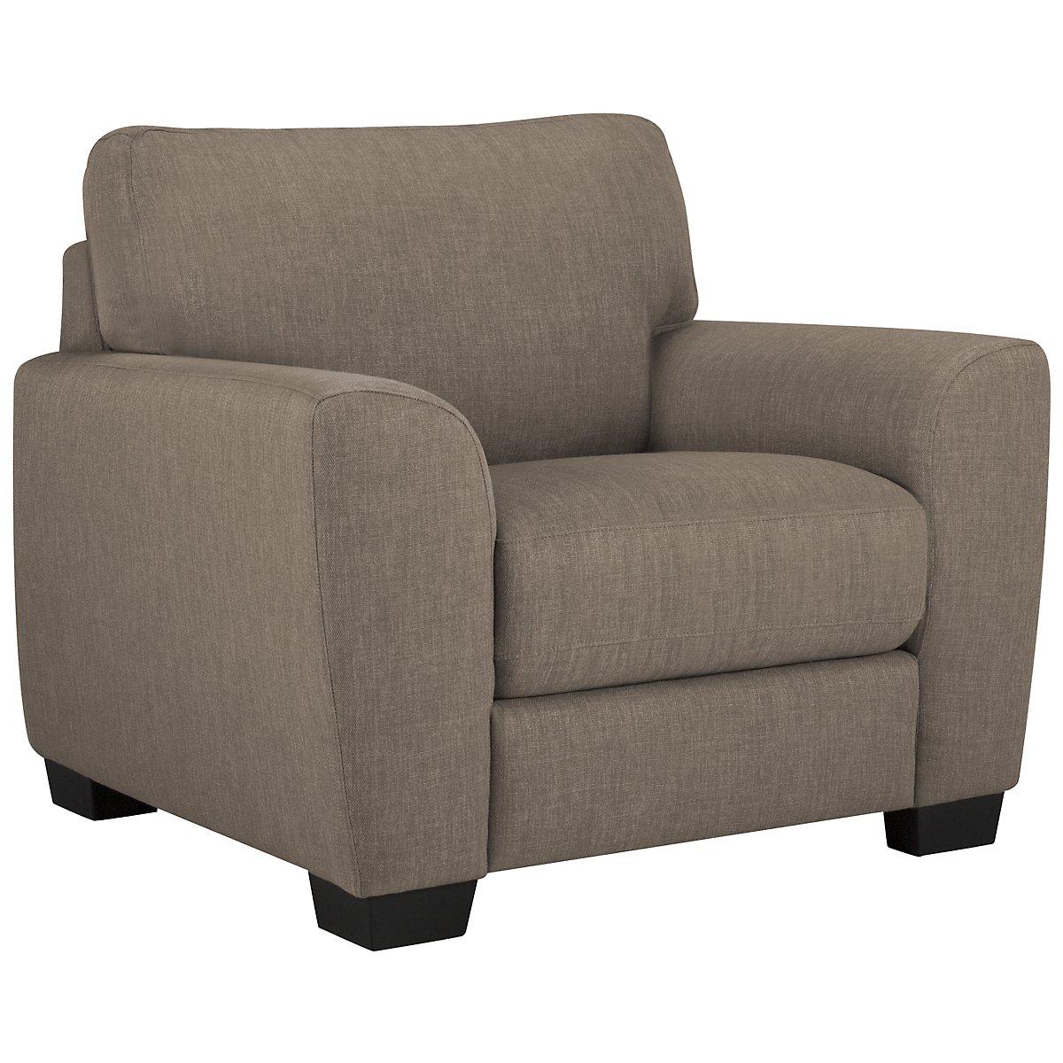Fallon Light Gray Fabric Chair