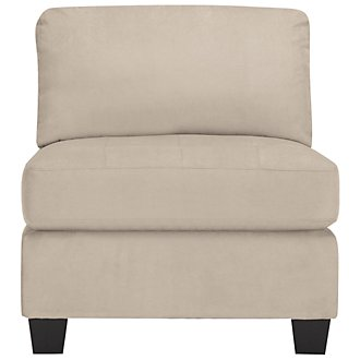 Mercer3 Light Taupe Microfiber Armless Chair