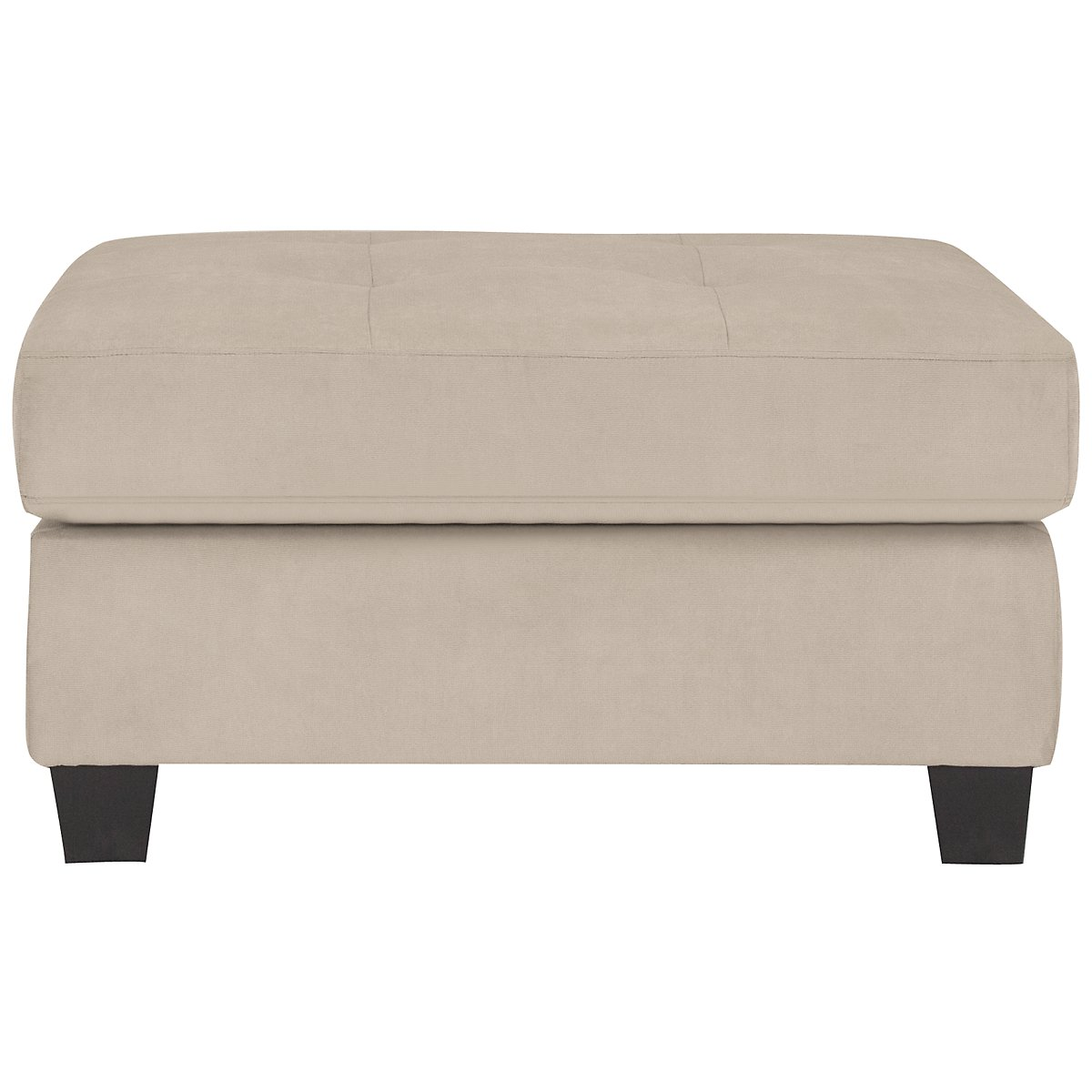 Mercer3 Light Taupe Microfiber Ottoman. VIEW LARGER - City Furniture: Mercer3 Lt Taupe Microfiber Ottoman