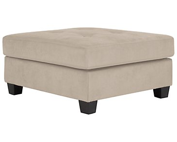Mercer3 Light Taupe Microfiber Ottoman