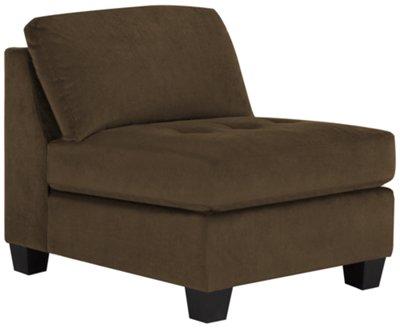 Mercer2 Dark Brown Microfiber Armless Chair