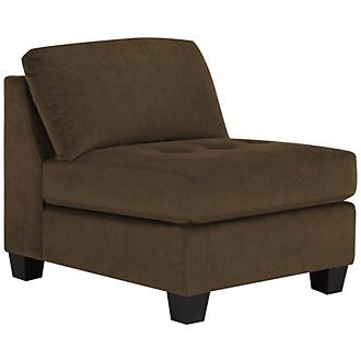 Mercer2 Dark Brown Microfiber Armless Chair