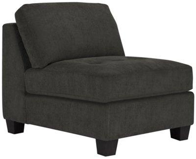 Mercer2 Dark Gray Microfiber Armless Chair