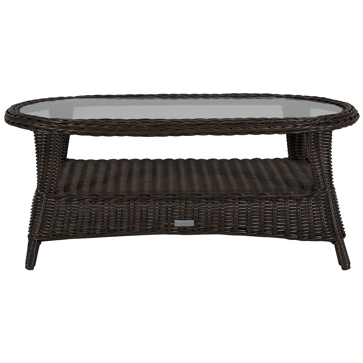 Java Dark Tone Oval Coffee Table