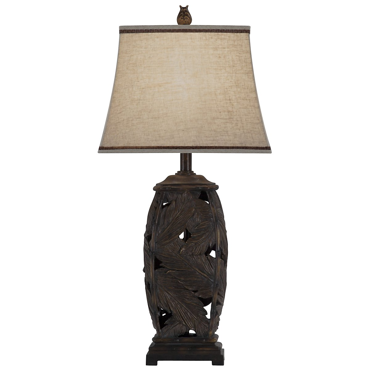 Fronds Dark Brown Table Lamp