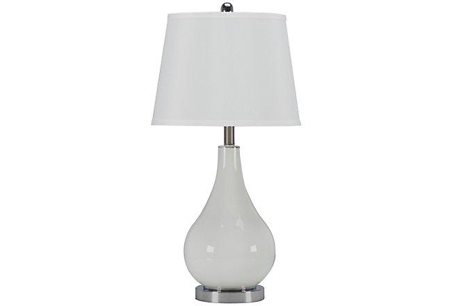 Britt White Glass Table Lamp