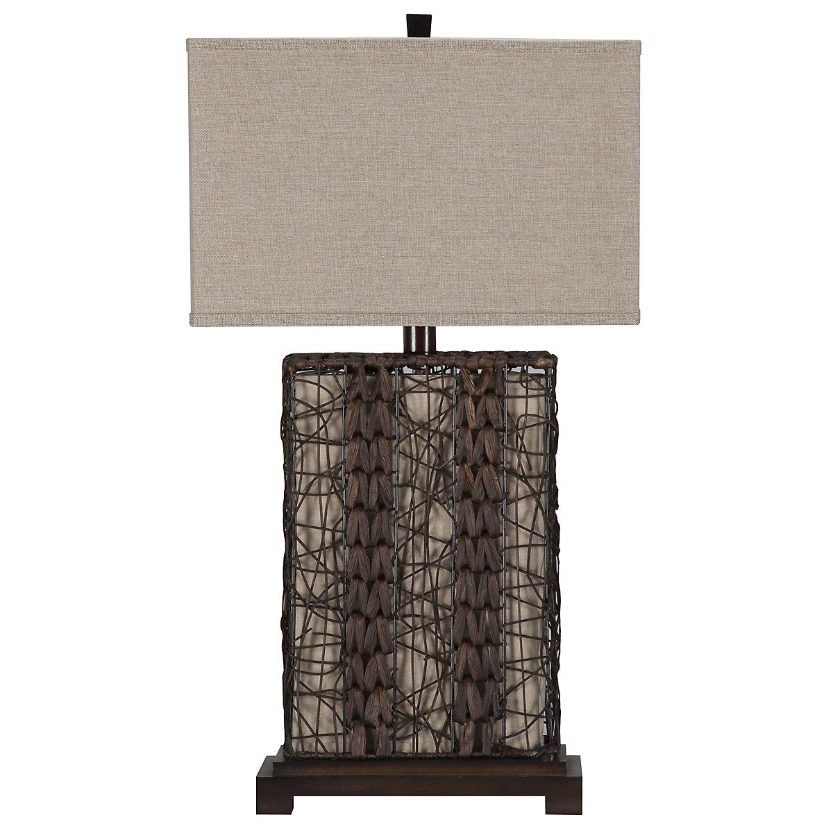 Isle Dark Brown Table Lamp