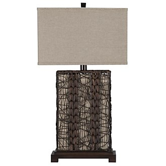 Isle Dark Brown Table Lamp