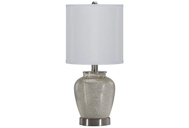 Bella Silver Glass Table Lamp