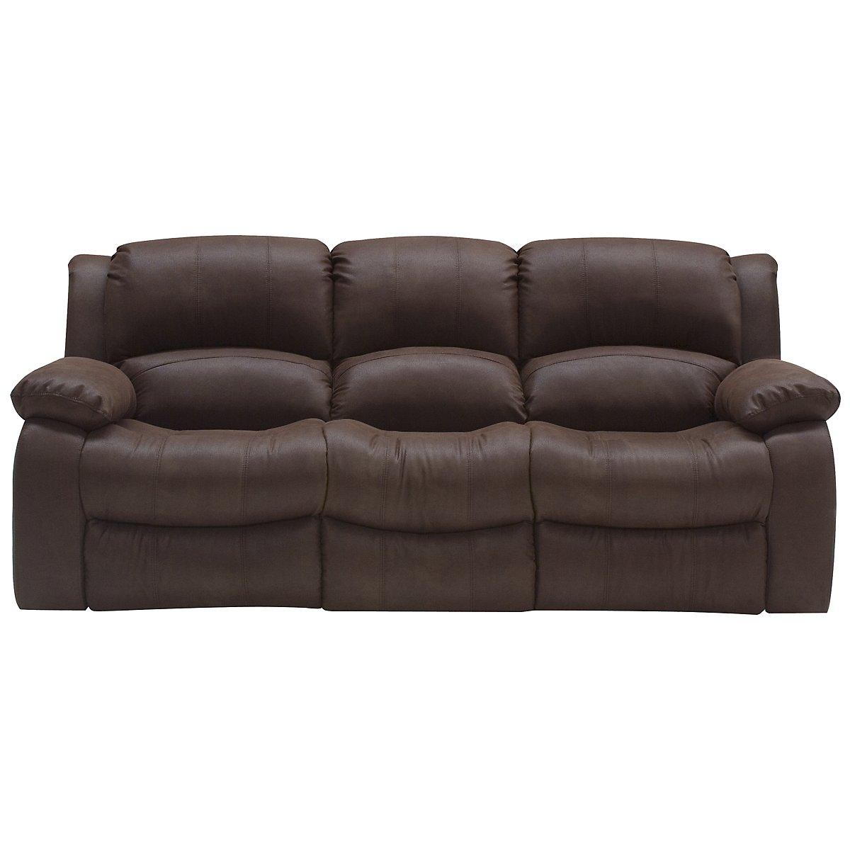 Tyler2 Dark Brown Microfiber Reclining Sofa