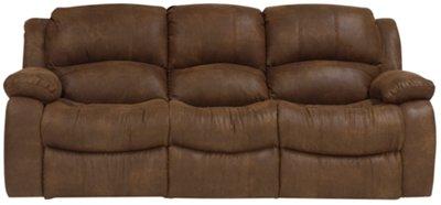 Tyler2 Medium Brown Microfiber Reclining Sofa
