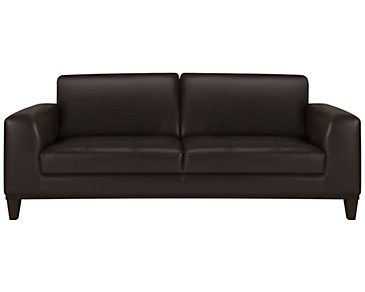 Piper Dark Brown Bonded Leather Sofa