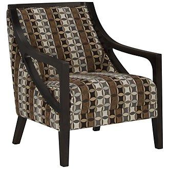 Piper Multicolored Fabric Accent Chair
