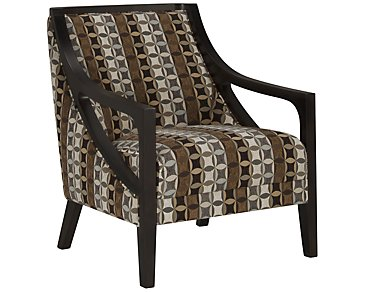 Piper Multicolored Fabric Accent Chair