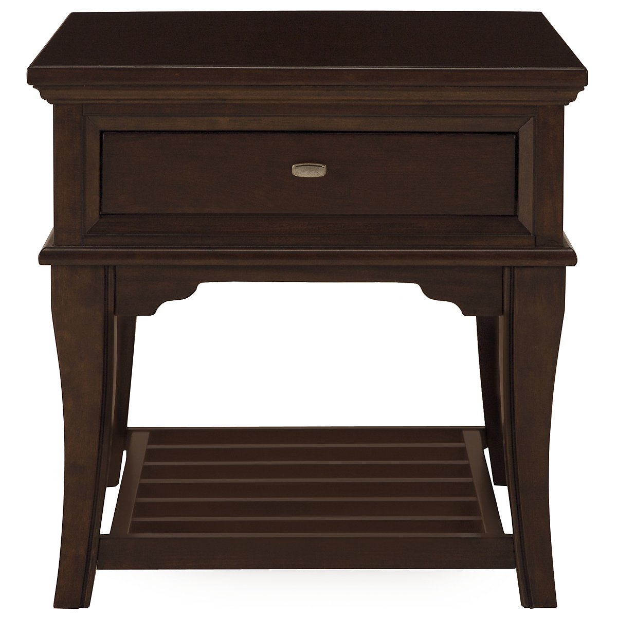 Canyon Dark Tone Wood Rectangular End Table