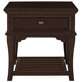 Canyon Dark Tone Wood Rectangular End Table