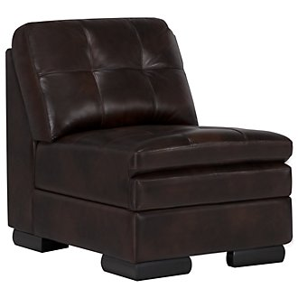 Trevor Dark Brown Leather Accent Chair