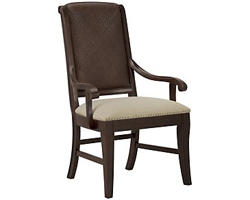 Canyon Dark Tone Woven Arm Chair