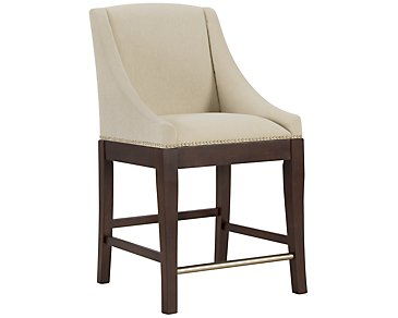 "Canyon2 Dark Tone Sloped 24"" Upholstered Barstool"