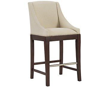 "Canyon2 Dark Tone Sloped 30"" Upholstered Barstool"