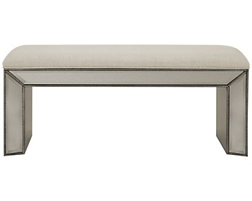 Adiva Mirrored Bench