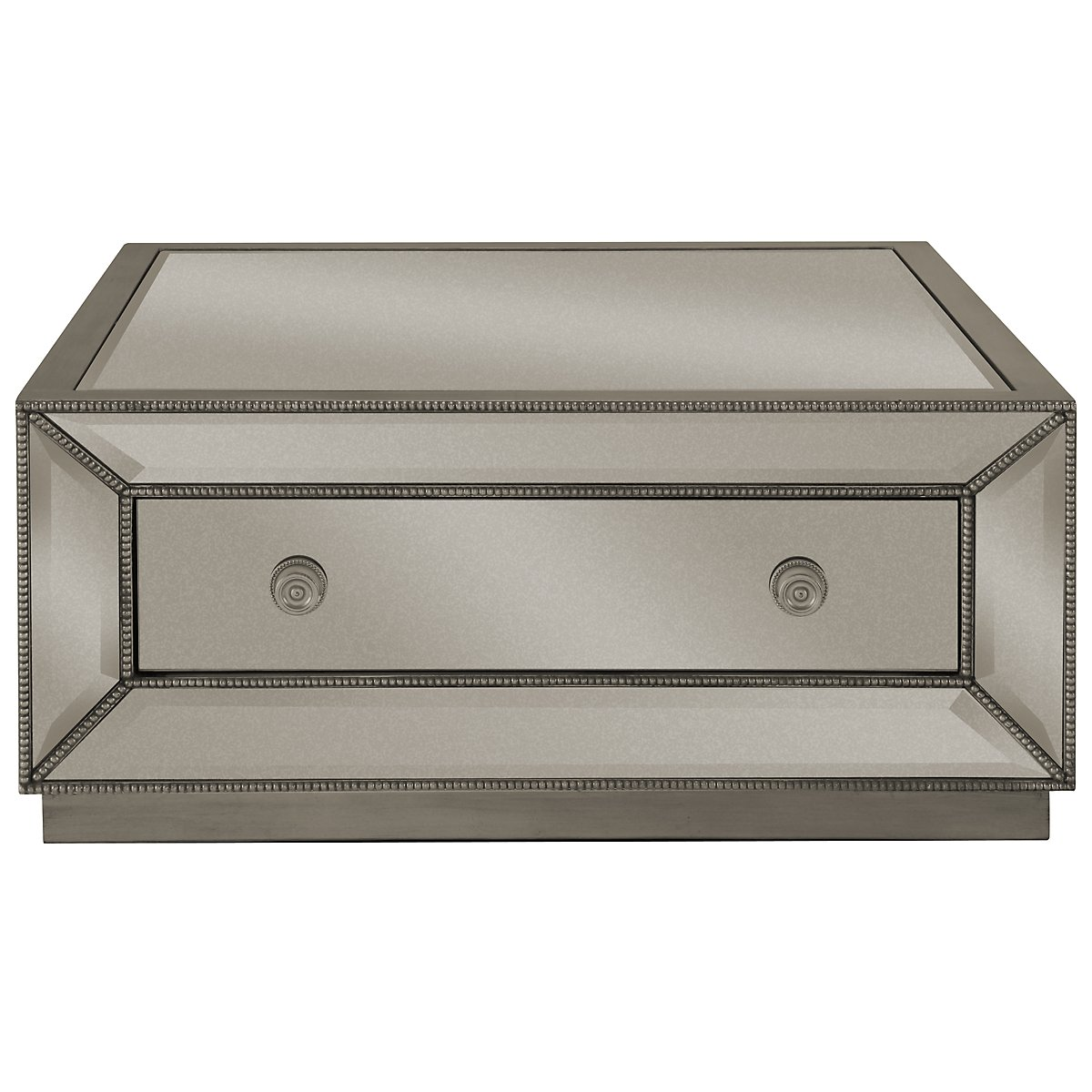 Mirror Coffee Table Square - Adiva mirrored storage square coffee table