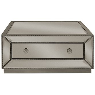 Adiva Mirrored Storage Square Coffee Table