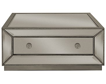 Adiva Mirrored Storage Square Coffee Table