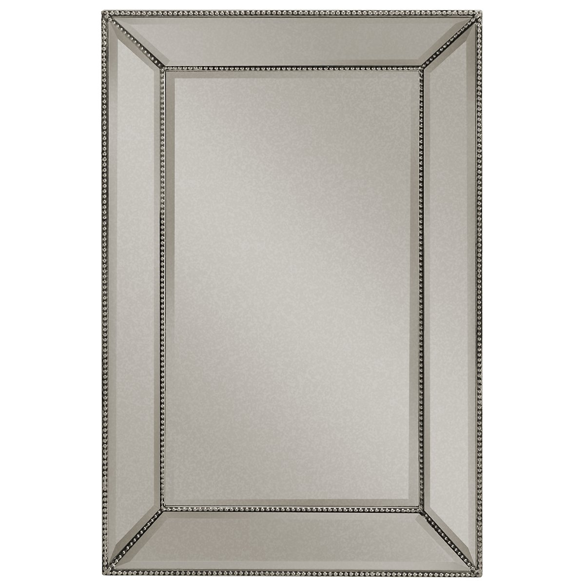 City furniture adiva silver small mirror for Small silver mirror