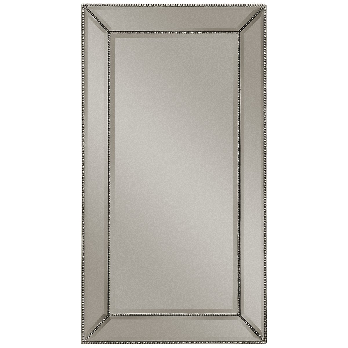 City furniture adiva silver large mirror for Big silver mirror