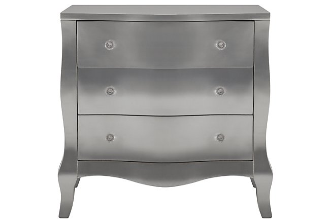 Reese Silver Wood Accent Chest