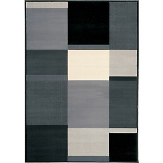 Ming Black 5X8 Area Rug