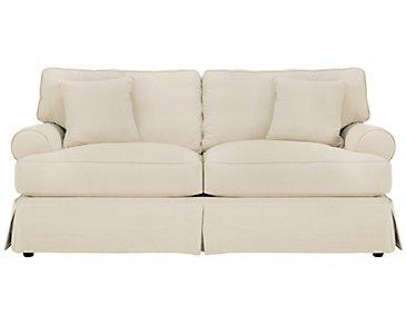 Levi Beige Cotton Down Sofa