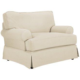 Levi Beige Cotton Down Chair