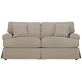 Levi Khaki Cotton Down Sofa