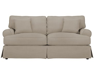 Levi Khaki Cotton Down Sofa
