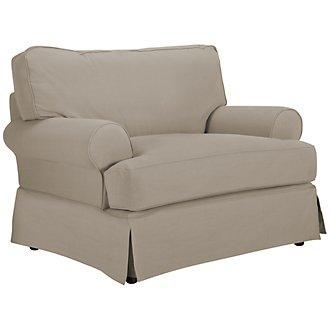 Levi Khaki Cotton Down Chair
