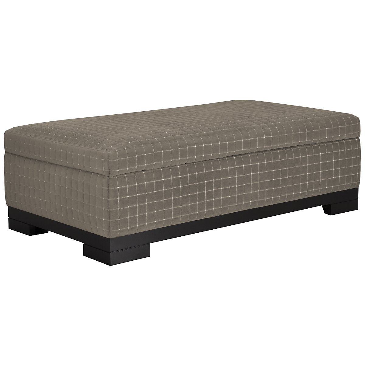 Carlin Dark Gray Storage Cocktail Ottoman