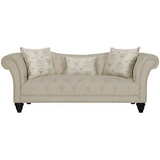 Hutton3 Light Taupe Linen Sofa