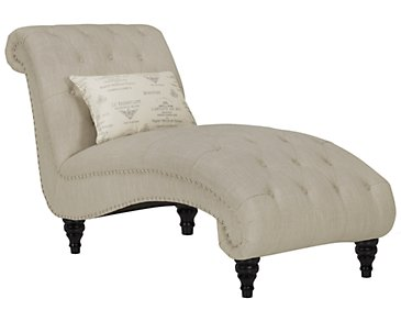 Hutton3 Light Taupe Linen Chaise