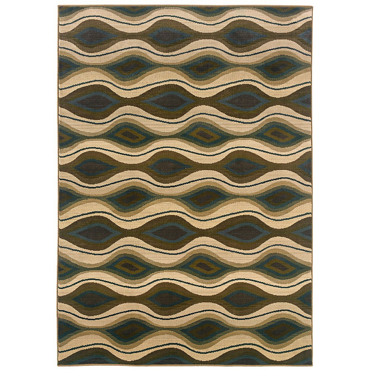 Wave Multicolored 8x11 Area Rug